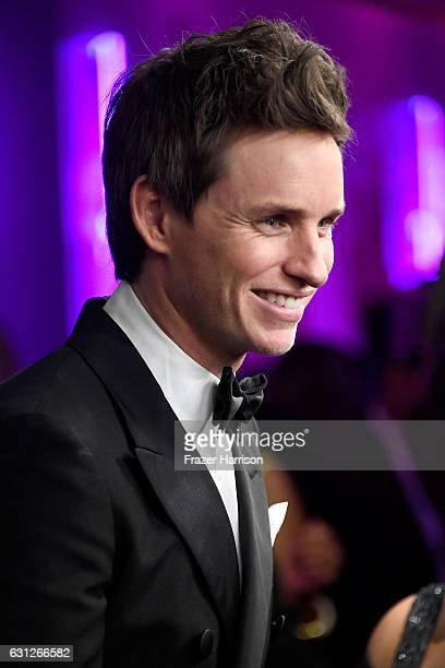 Actor Eddie Redmayne attends the 18th Annual PostGolden Globes Party hosted by Warner Bros Pictures and InStyle at The Beverly Hilton Hotel on...