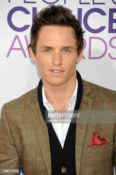 Actor Eddie Redmayne attends the 2013 People's Choice Awards Arrivals held at Nokia Theatre L.A. Live on January 9, 2013 in Los Angeles, California.