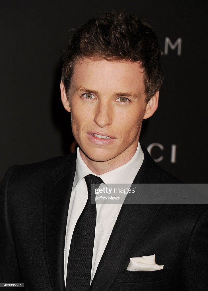 Actor Eddie Redmayne attends the 2014 LACMA Art + Film Gala honoring Barbara Kruger and Quentin Tarantino presented by Gucci at LACMA on November 1, 2014 in Los Angeles, California.