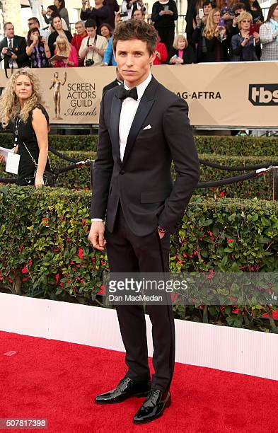 Actor Eddie Redmayne attends the 22nd Annual Screen Actors Guild Awards at The Shrine Auditorium on January 30 2016 in Los Angeles California