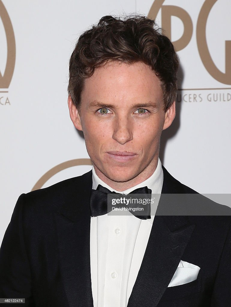 Actor Eddie Redmayne attends the 26th Annual Producers Guild of America Awards at the Hyatt Regency Century Plaza on January 24, 2015 in Los Angeles, California.