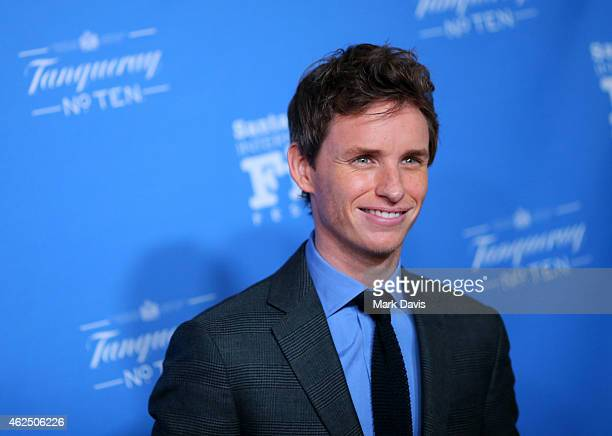 Actor Eddie Redmayne attends the 30th Santa Barbara International Film Festival 'Cinema Vanguard' award for 'The Theory of Everything' at the...