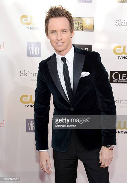 Actor Eddie Redmayne attends the Critics' Choice Movie Awards 2013 with Skinnygirl Cocktails at Barkar Hangar on January 10 2013 in Santa Monica...