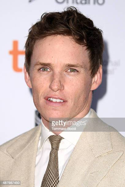 """Actor Eddie Redmayne attends """"The Danish Girl"""" premiere during the 2015 Toronto International Film Festival held at the Princess of Wales Theatre on..."""