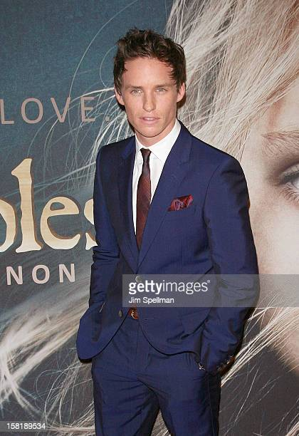 Actor Eddie Redmayne attends the 'Les Miserables' New York Premiere at Ziegfeld Theatre on December 10 2012 in New York City