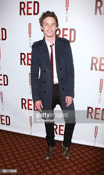 Actor Eddie Redmayne attends the opening night party for RED on Broadway at Gotham Hall on April 1 2010 in New York City