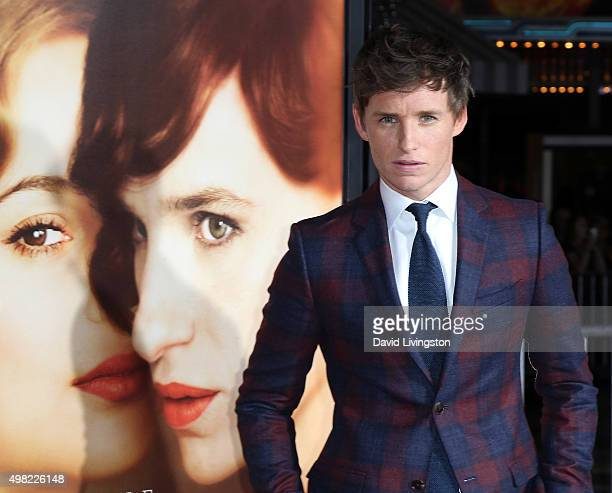 """Actor Eddie Redmayne attends the premiere of Focus Features' """"The Danish Girl"""" at the Regency Village Theatre on November 21, 2015 in Westwood,..."""