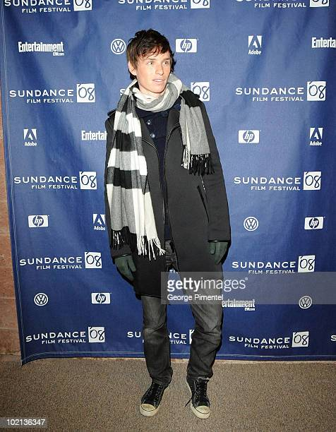 Actor Eddie Redmayne attends the premiere of The Yellow Handkerchief during the 2008 Sundance Film Festival at the Eccles Theatre on January 18 2008...