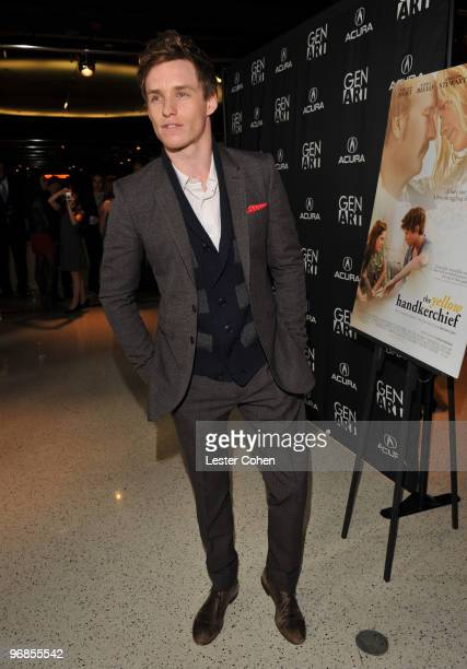 Actor Eddie Redmayne attends the The Yellow Handkerchief Los Angeles premiere at Pacific Design Center on February 18 2010 in West Hollywood...