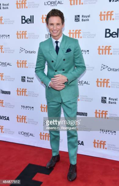 """Actor Eddie Redmayne attends """"The Theory Of Everything"""" premiere during the 2014 Toronto International Film Festival at Princess of Wales Theatre on..."""