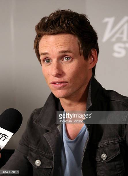 Actor Eddie Redmayne attends the Variety Studio presented by Moroccanoil at Holt Renfrew during the 2014 Toronto International Film Festival on...