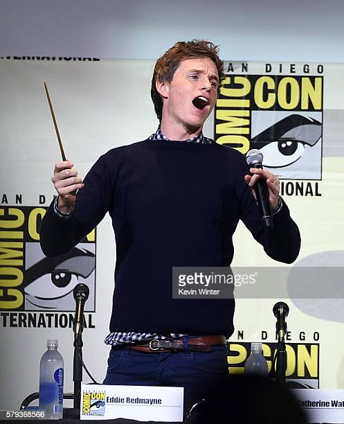 Actor Eddie Redmayne attends the Warner Bros Presentation during ComicCon International 2016 at San Diego Convention Center on July 23 2016 in San...
