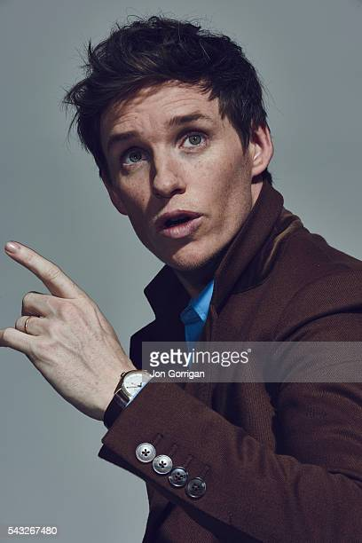 Actor Eddie Redmayne is photographed for the Telegraph on November 28 2015 in London England
