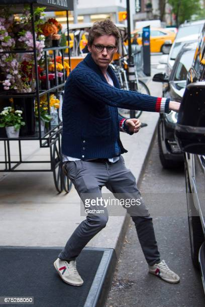 Actor Eddie Redmayne is seen in the Upper East Side on April 30 2017 in New York City