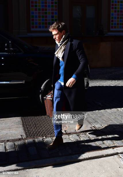 Actor Eddie Redmayne is seen walking in Soho on February 12 2018 in New York City