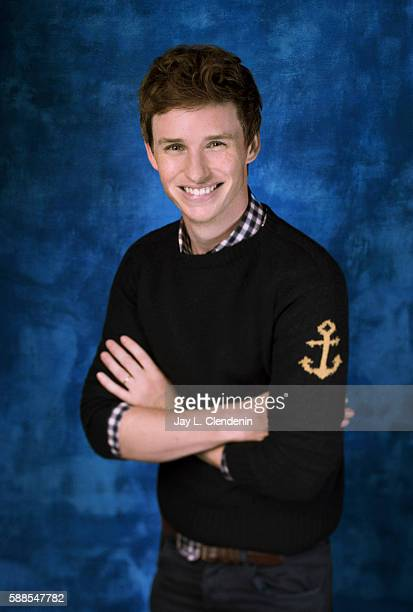 Actor Eddie Redmayne of 'Fantastic Beasts and Where to Find Them' is photographed for Los Angeles Times at San Diego Comic Con on July 22 2016 in San...