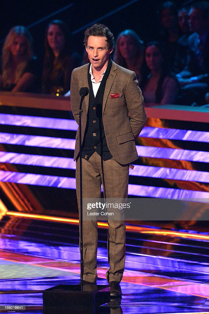 Actor Eddie Redmayne onstage during the 2013 People's Choice Awards at Nokia Theatre L.A. Live on January 9, 2013 in Los Angeles, California.