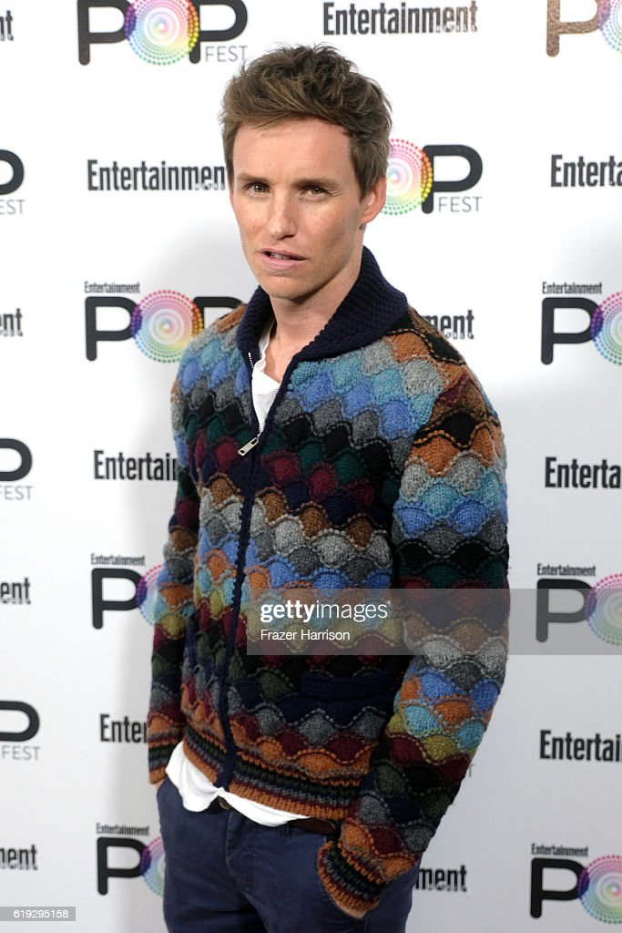 Actor Eddie Redmayne poses backstage during Entertainment Weekly's PopFest at The Reef on October 30, 2016 in Los Angeles, California.