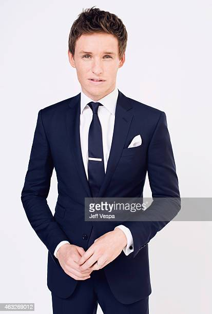 Actor Eddie Redmayne poses for a portraits at the 87th Academy Awards Nominee Luncheon at the Beverly Hilton Hotel on February 2 2015 in Beverly...