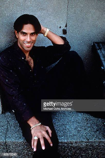 Actor Eddie Velez poses for the movie Roof tops in 1989