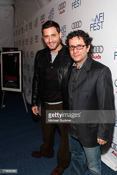 Actor Edgar Ramirez and director Alberto Arvelo of the film 'Cyrano Fernandez' attend the AFI FEST 2007 presented by Audi held at the Rooftop Village...