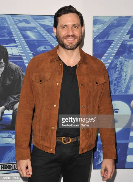 Actor Edgar Ramirez arrives at the HBO Premiere of 'Spielberg' at Paramount Studios on September 26 2017 in Hollywood California