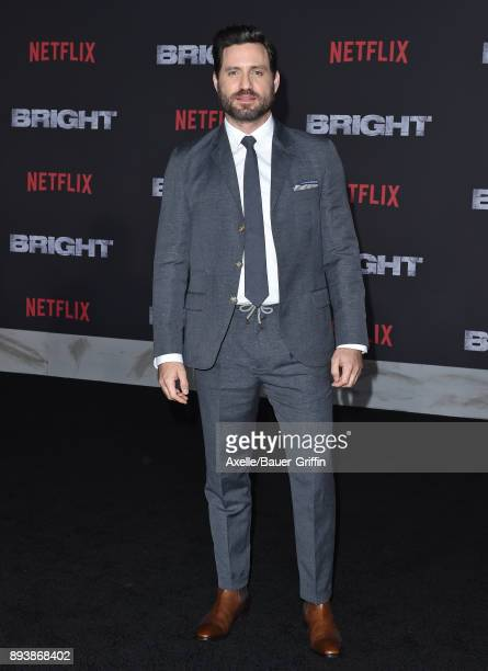 Actor Edgar Ramirez arrives at the premiere of Netflix's 'Bright' at Regency Village Theatre on December 13 2017 in Westwood California