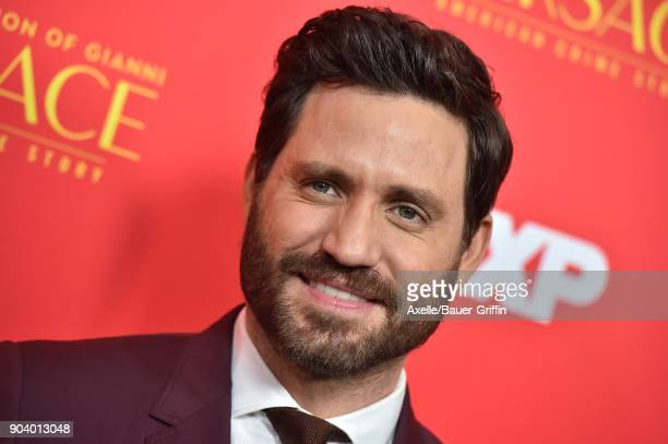 Actor Edgar Ramirez attends the Los Angeles Premiere of 'The Assassination of Gianni Versace American Crime Story' at ArcLight Hollywood on January 8...