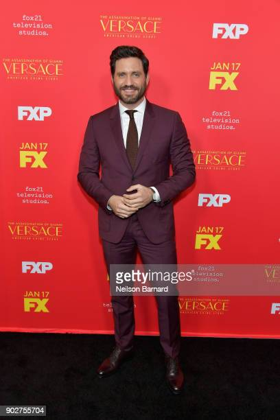 """Actor Edgar Ramirez attends the premiere of FX's """"The Assassination Of Gianni Versace: American Crime Story"""" at ArcLight Hollywood on January 8, 2018..."""
