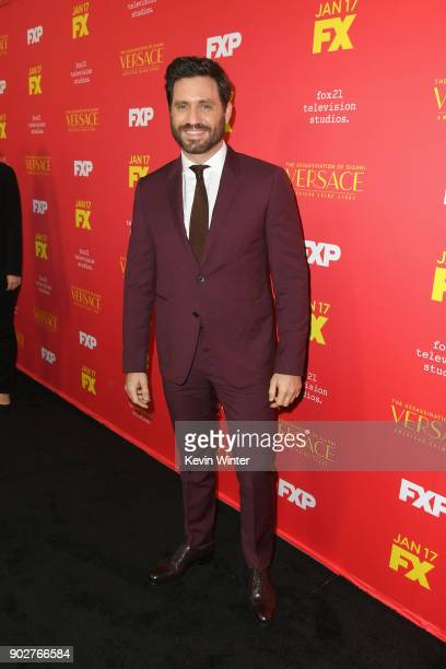 Actor Edgar Ramirez attends the premiere of FX's 'The Assassination Of Gianni Versace American Crime Story' at ArcLight Hollywood on January 8 2018...