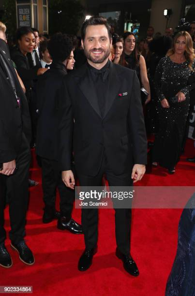 Actor Edgar Ramirez celebrates The 75th Annual Golden Globe Awards with Moet Chandon at The Beverly Hilton Hotel on January 7 2018 in Beverly Hills...