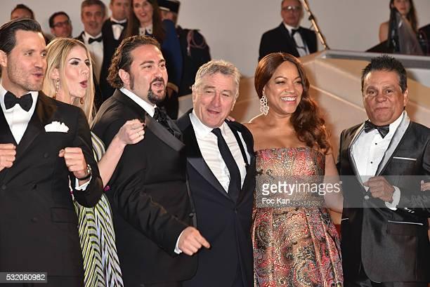 Actor Edgar Ramirez director Jonathan Jakubowicz producer Claudine Jakubowicz actor Robert de Niro and his wife Grace Hightower boxer Roberto Duran...