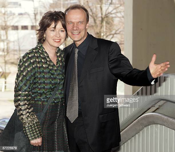 Actor Edgar Selge and his wife Franziska Walser arrive at the Adolf Grimme Awards March 31 2006 in Marl Germany Selge received the award for his...