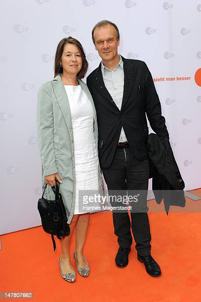 Actor Edgar Selge and his wife Franziska Walser attend the ZDF reception during the Munich Film Festival 2012 at the H'ugo's on July 3 2012 in Munich...