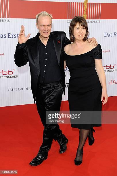 Actor Edgar Selge and wife Franziska Walser attend the 'German film award 2010' at Friedrichstadtpalast on April 23 2010 in Berlin Germany