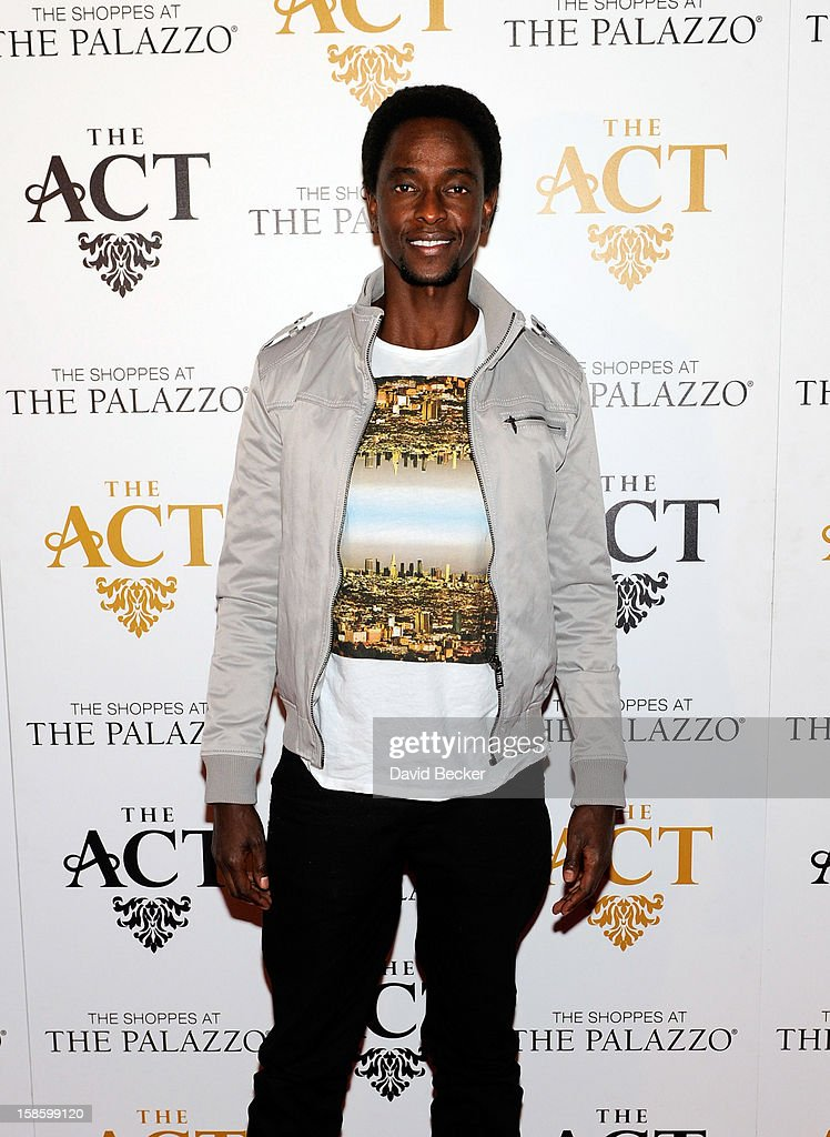 Actor Edi Gathegi arrives at The Act at The Palazzo on December 19, 2012 in Las Vegas, Nevada.