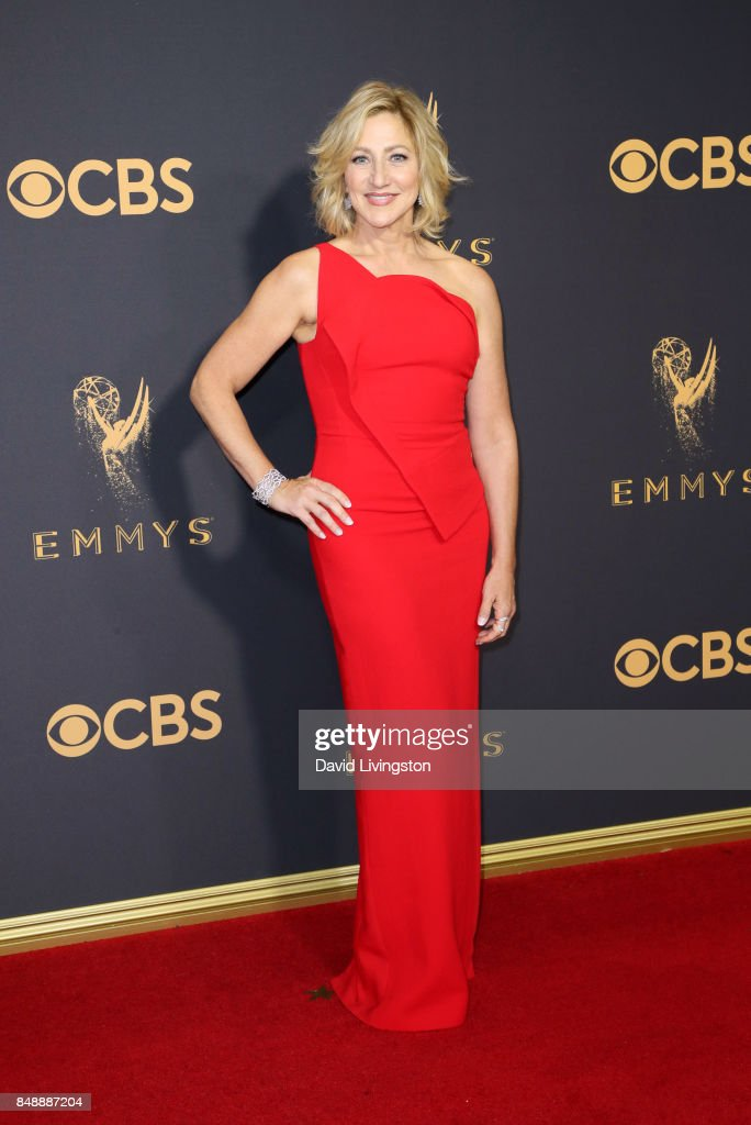 Actor Edie Falco attends the 69th Annual Primetime Emmy Awards - Arrivals at Microsoft Theater on September 17, 2017 in Los Angeles, California.