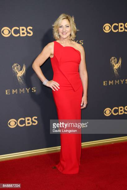 Actor Edie Falco attends the 69th Annual Primetime Emmy Awards Arrivals at Microsoft Theater on September 17 2017 in Los Angeles California