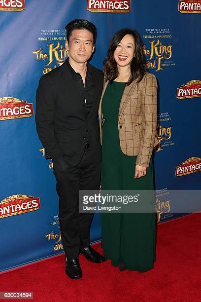 Actor Edison Chen and Camille Chen arrive at the Opening Night of The Lincoln Center Theater's Production Of Rodgers and Hammerstein's The King and I...