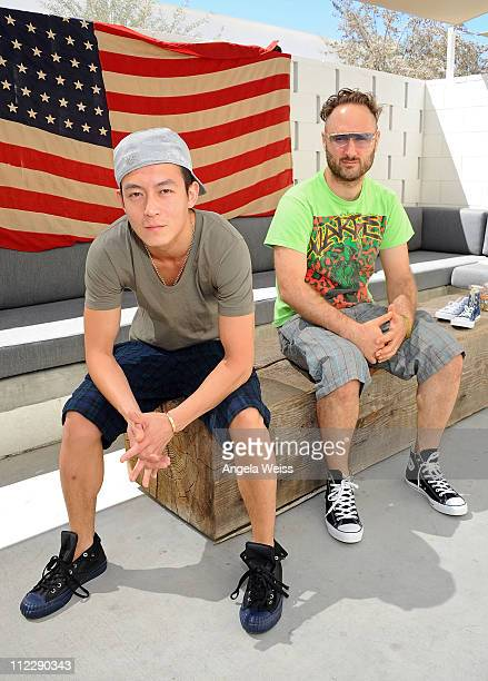Actor Edison Chen and producer Sam Spiegal attend the Converse Lounge at Ace Hotel on April 17, 2011 in Palm Springs, California.