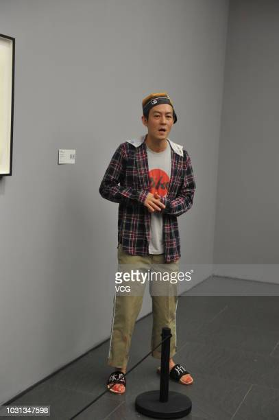 Actor Edison Koonhei Chen attends the opening of 'Music Is Art' exhibition at Art Space of Yanlord Landmark on September 4 2018 in Chengdu Sichuan...