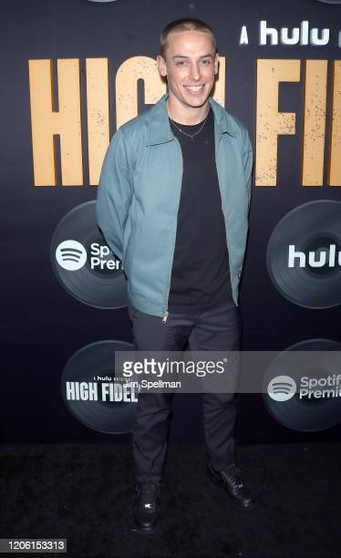 Actor Edmund Donovan attends the Hulu's High Fidelity New York premiere at Metrograph on February 13 2020 in New York City