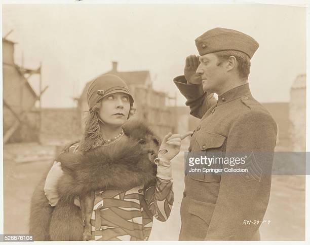 Actor Edmund Lowe and Woman in Movie Scene