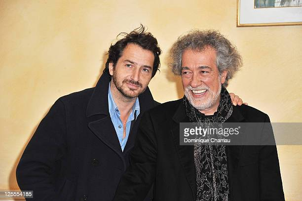Actor Edouard Baer and Director Marc Esposito pose at the photocall for 'Mon Pote' at Hotel Renoir during the Festival of Sarlat on November 11, 2010...