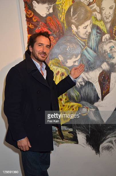 Actor Edouard Baer attends the Chambas Exhibition Preview Launch at Galerie Catherine Houard on October 18 2011 Paris France