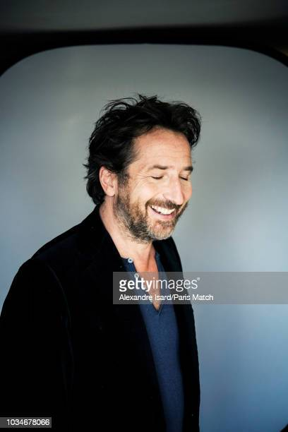 Actor Edouard Baer is photographed for Paris Match at home on August 31 2018 in Paris France
