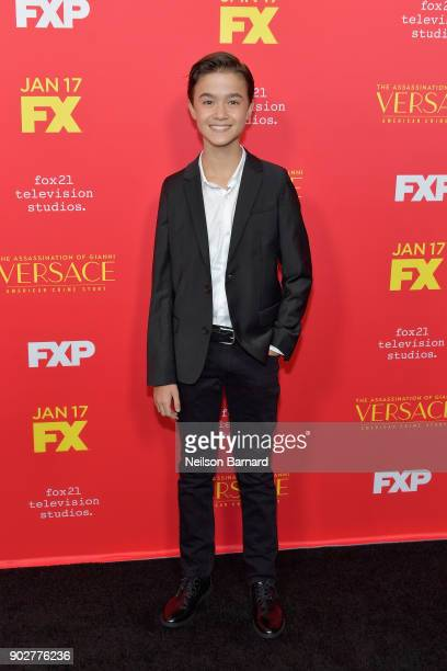 Actor Edouard Holdener attends the premiere of FX's 'The Assassination Of Gianni Versace American Crime Story' at ArcLight Hollywood on January 8...