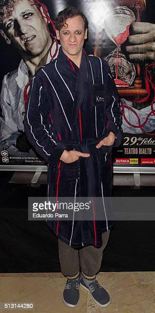Actor Edu Soto attends 'Cuando menos te lo esperes' premiere at Rialto theatre on February 29 2016 in Madrid Spain