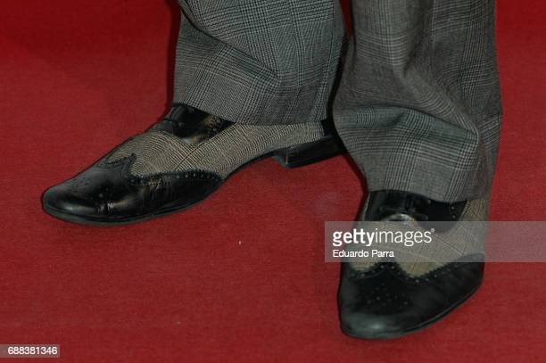 Actor Edu Soto shoes detail attends the '#espiriturivera' photocall at Soho disco on May 25 2017 in Madrid Spain