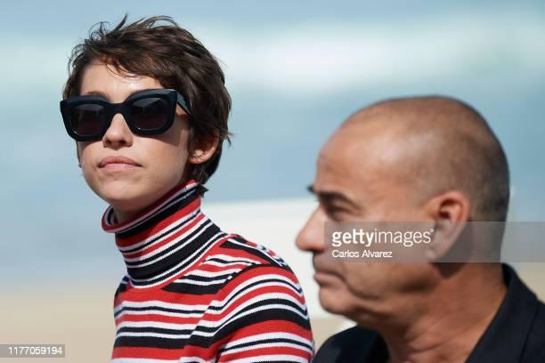 Actor Eduard Fernandez and actress Greta Fernandez attend 'La Hija De Un Ladron ' photocall during 67th San Sebastian International Film Festival on...
